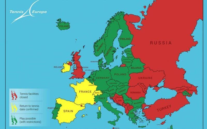 La Cartina Europa.La Mappa Europea Delle Riaperture Tennis Circus